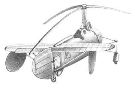ЦАГИ А-15 -бескрылый автожир с непосредственным управлением по схеме и конструкции А-14, но крупных размеров, с...